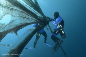 Sub impegnati nel monitoraggio dei fondali marini